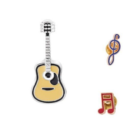 Guitar Lapel Pins Set Musical Note Enamel Pins Boys Girls Cute Brooches Friends Gift for Men Women Jacket Bag