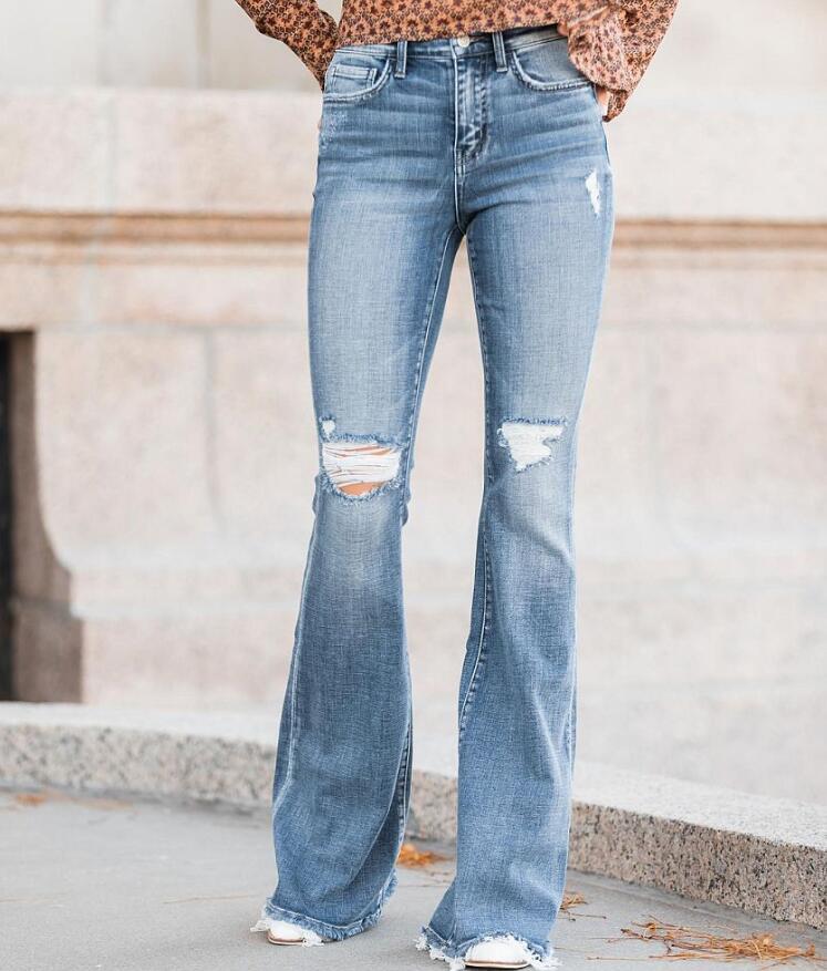 High Rise Flare Stretch Jean