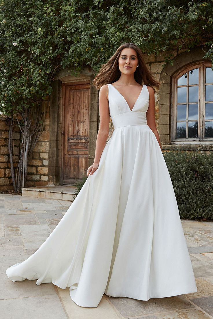 Jenny Yoo - Channing in 2020 | Asymmetrical wedding dress, Wedding dresses near me, Cold shoulder wedding dress