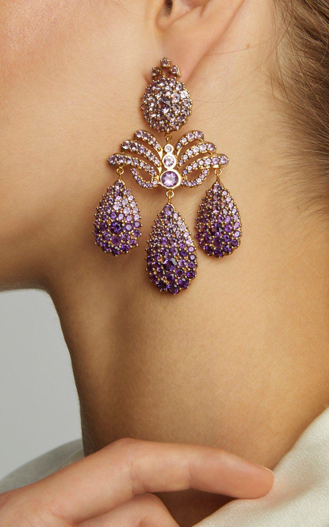Marquise Palace Amethyst Chandelier Earrings by Sylvie Corbelin | Beautiful diamond earrings, Fine jewelry designers, Evening jewelry