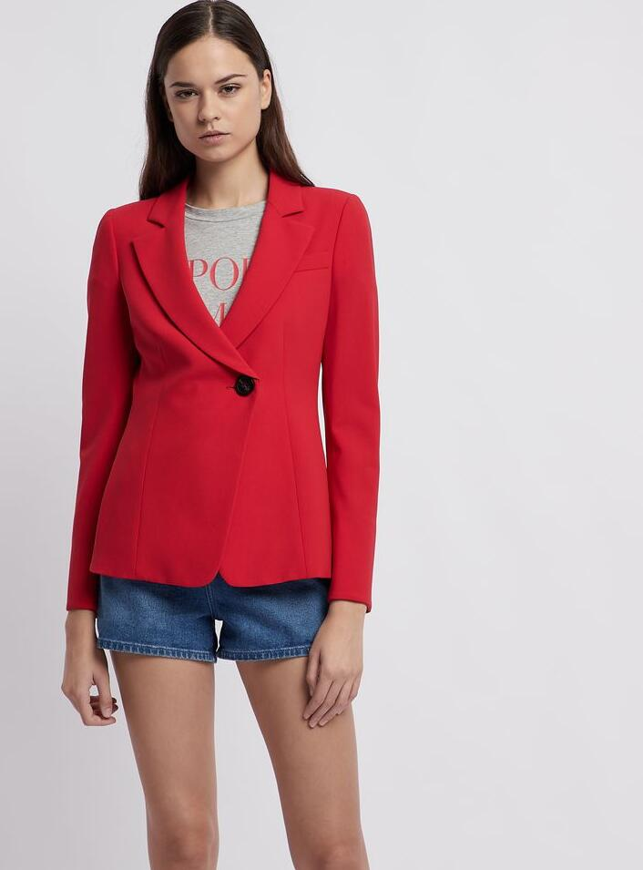 Crepe fabric blazers for summer