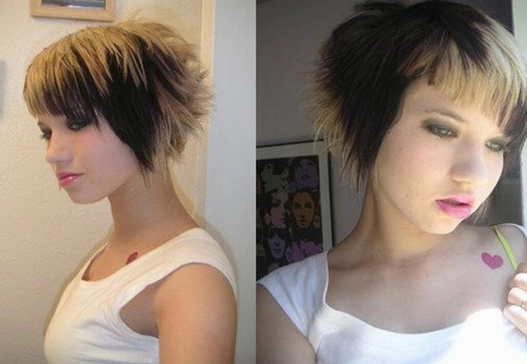 cute short emo hair style for girls