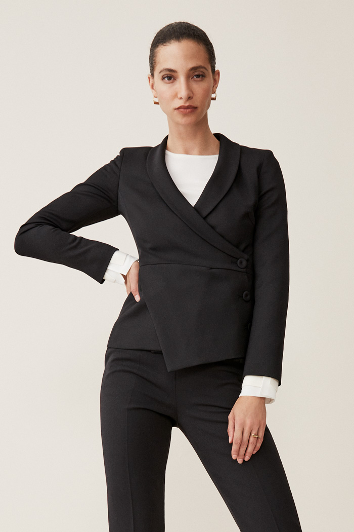 Image result for asymmetric blazers
