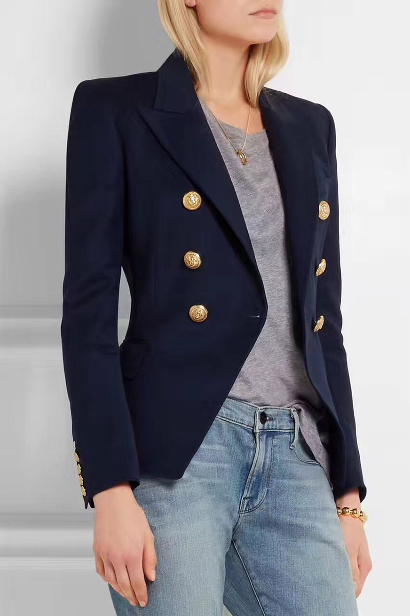 Image result for Double-breasted blazers women