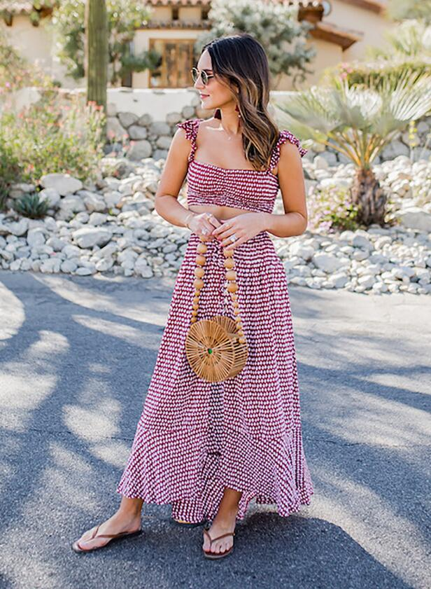 Pair a maxi skirt with a matching top for summer vacay vibes like Carrie Bradshaw Lied