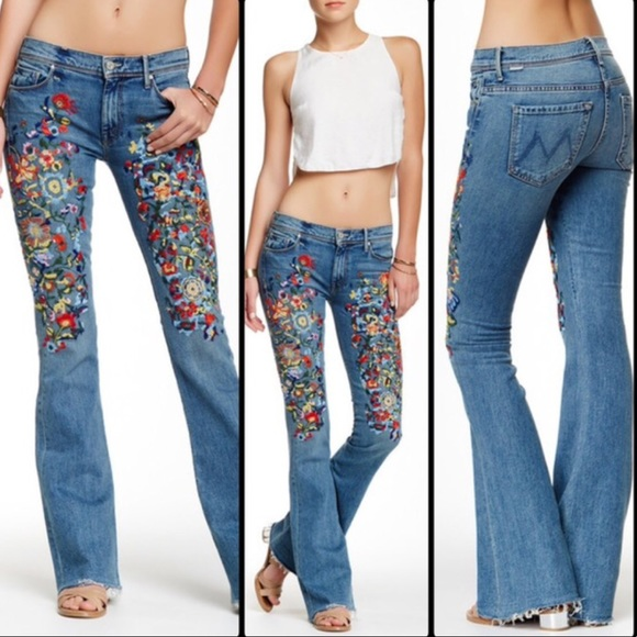 MOTHER Jeans | Mother Embroidered Bootcut Jeans | Poshmark