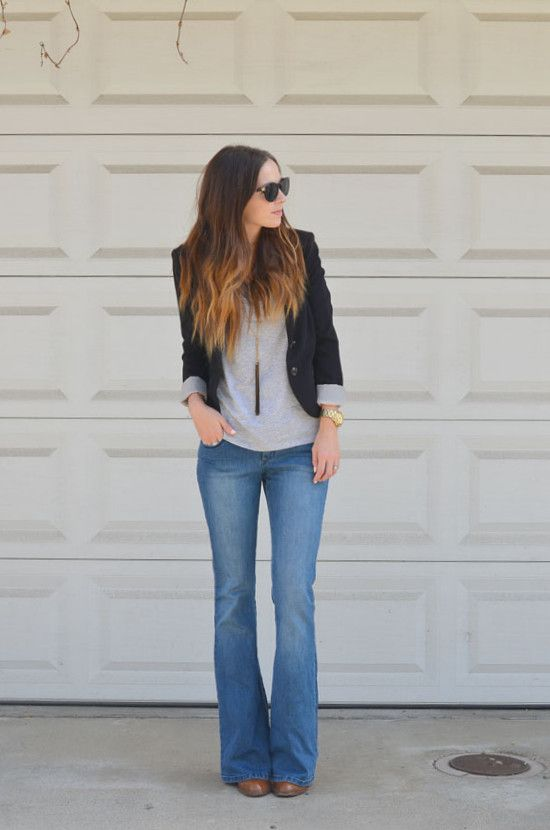 how to style bootcut jeans with trendy new tops fashion colors herstylecode 4 How to Style Bootcut Jeans - Bootcut Jeans Outfit Ideas