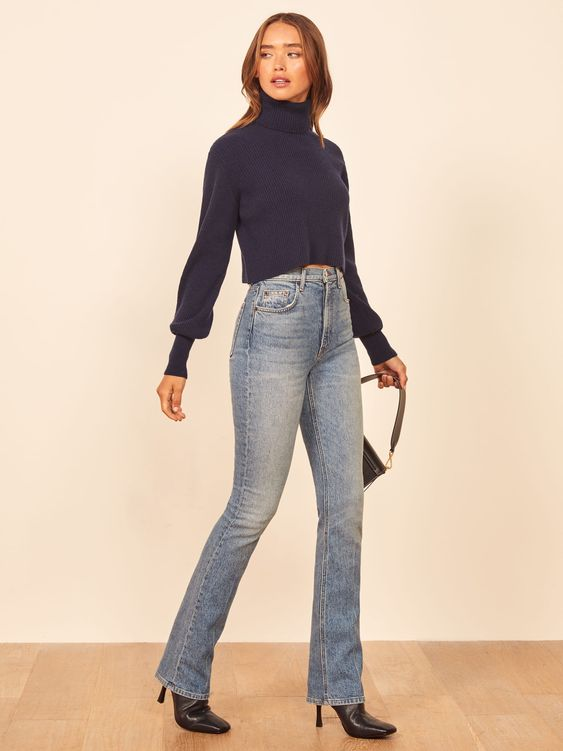 how to style bootcut jeans herstylecode How to Style Bootcut Jeans - Bootcut Jeans Outfit Ideas