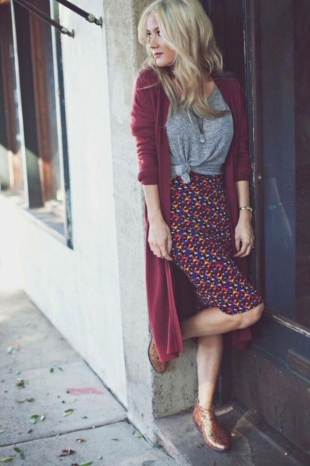 Long cardigan with tee and pencil skirt | Fashion, Modest fashion, Style