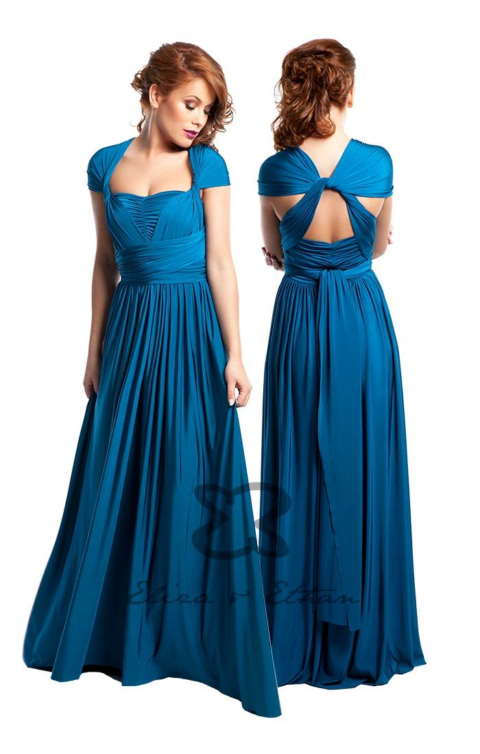 Eliza & Ethan Multi-Wrap Dress Tutorial - Style 13   Infinity dress ways to wear, Multi way dress, Infinity dress styles
