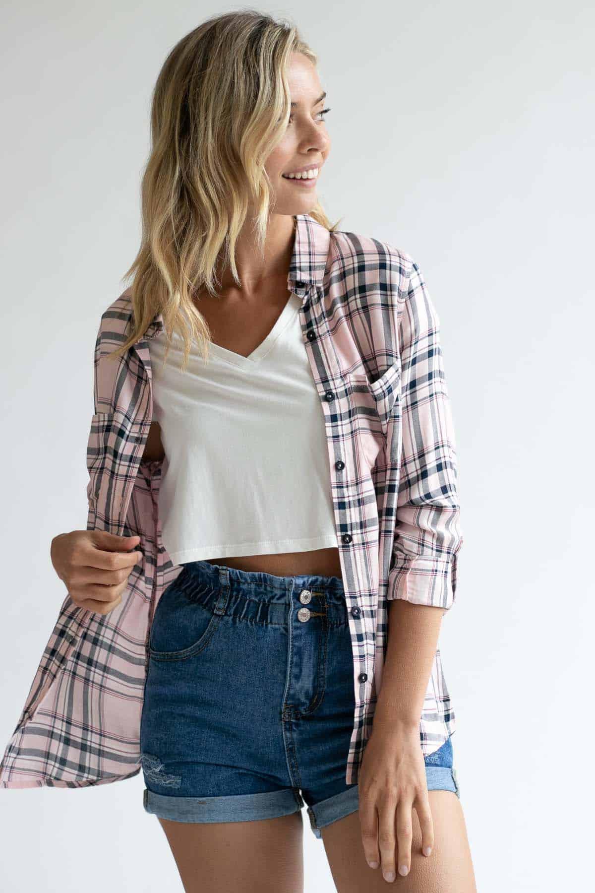 Pink Summer Flannel - Ragstock