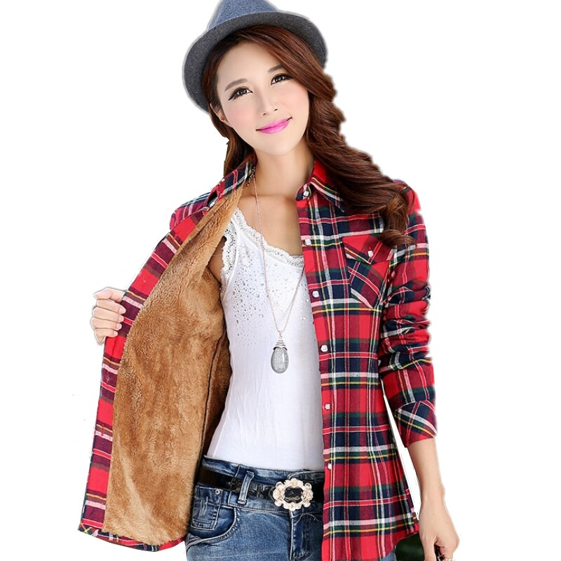 Special Offers plaid collar women blouse brands and get free shipping - a862