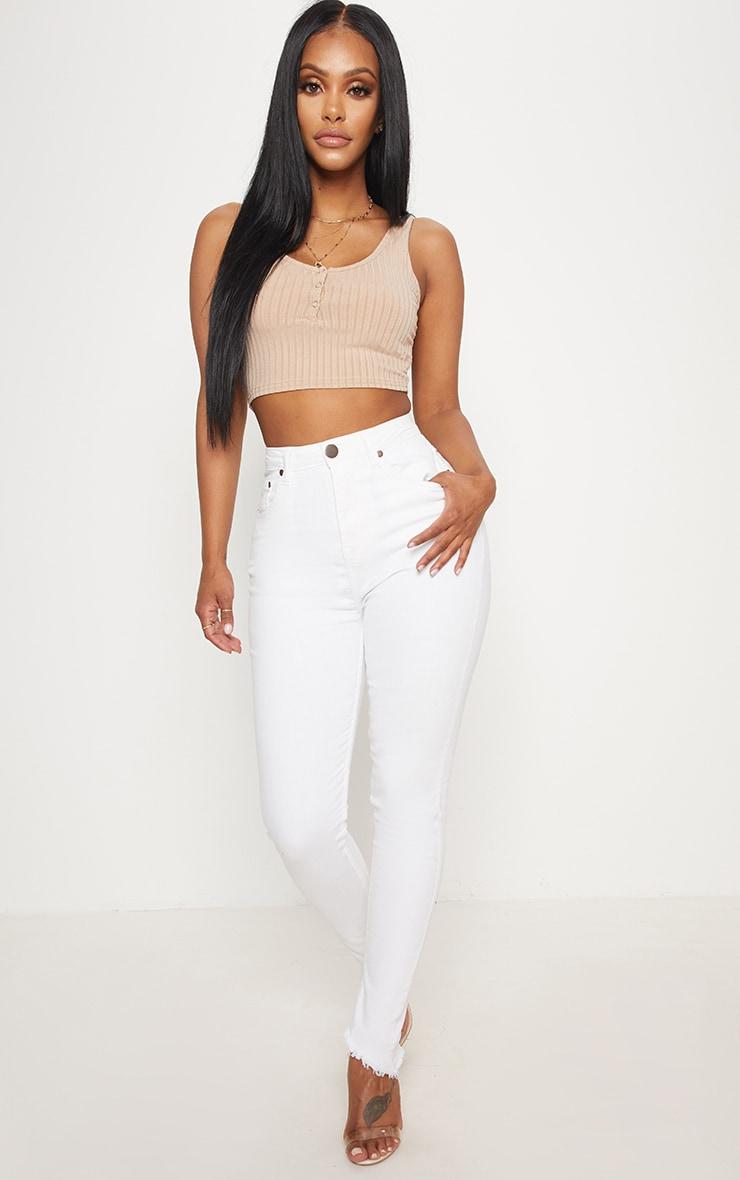 Shape White High Waist Skinny Jeans | Curve | PrettyLittleThing USA