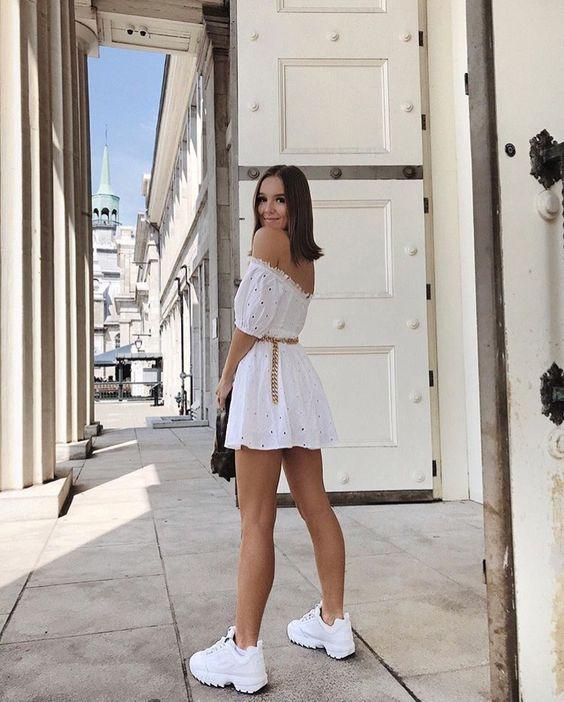 pinterest: torimellos | Outfits tenis, Fila outfit, Fashion