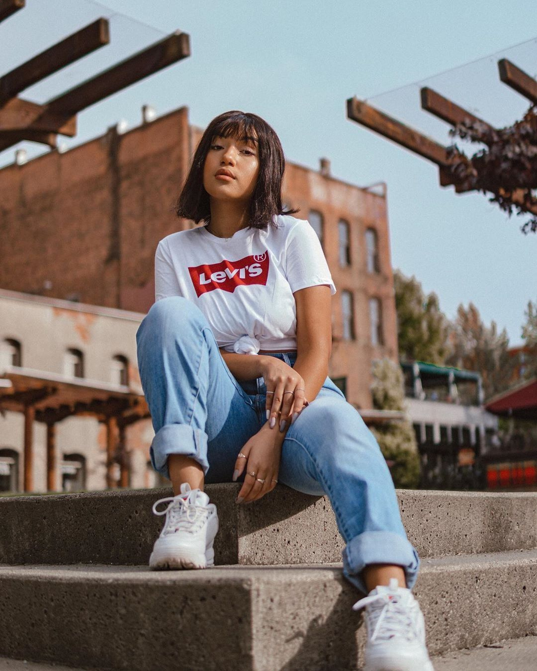 what to wear with fila disruptors outfit ideas for women with fila shoes herstylecode 7 What to Wear with Fila Disruptors - Outfit Ideas for Women with Fila Shoes