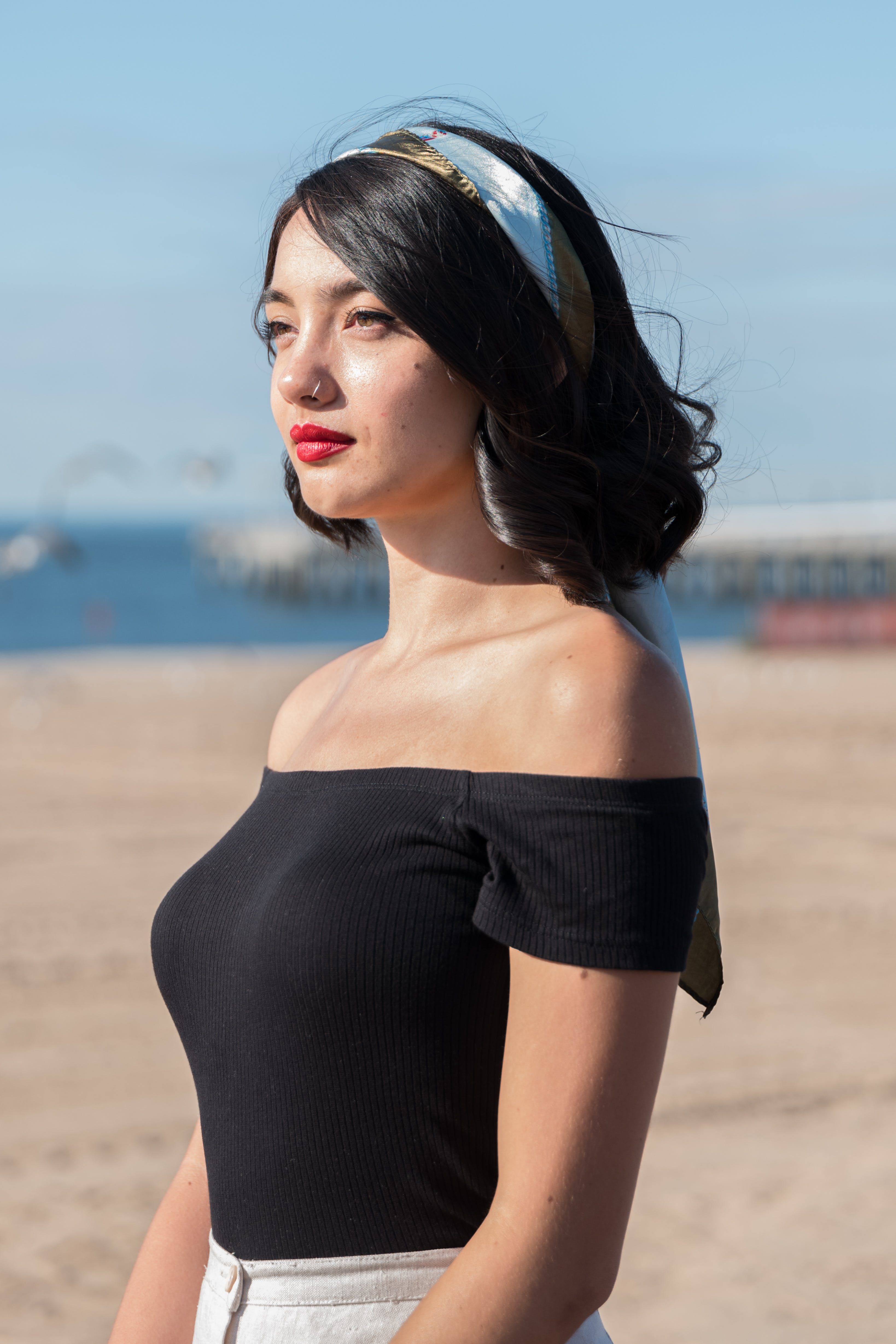 Photo Of Woman Wearing Black Off Shoulders