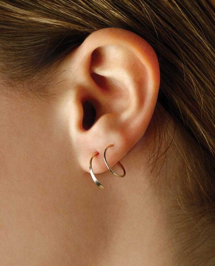 Macy's Endless Wire Cuff Earrings Set in 14k Gold
