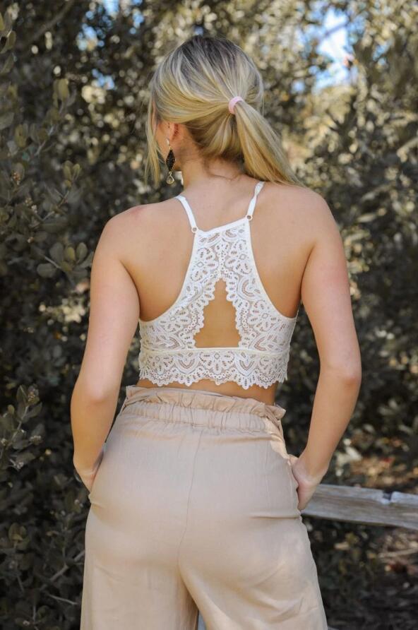 Keyhole back bralette -back view