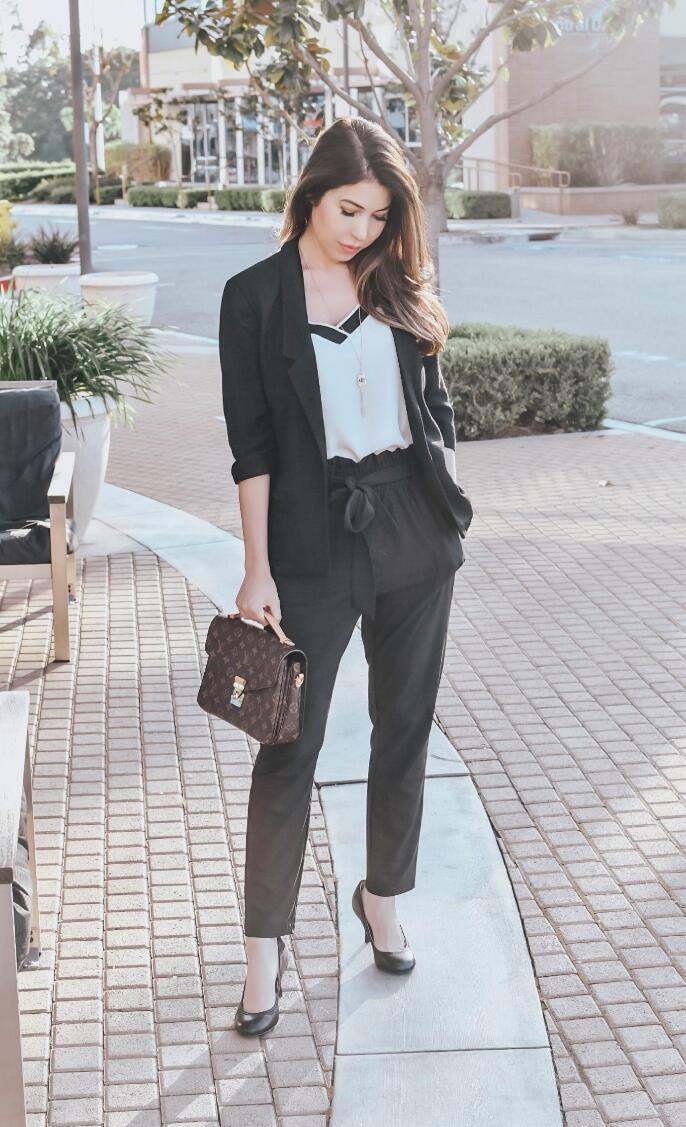paper bag pants outfit ideas