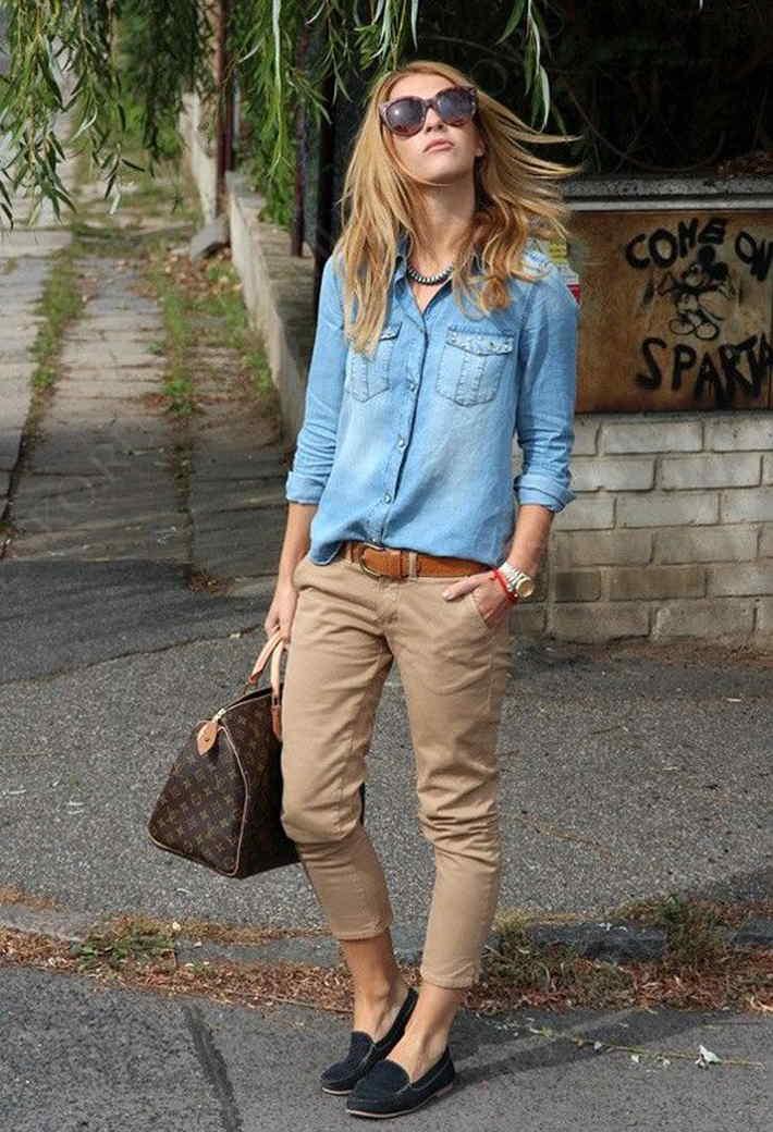 К джинсовой рубашке стоит присмотреться