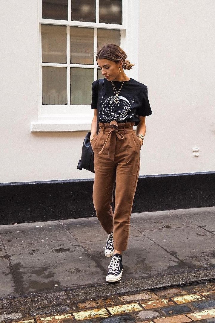 Here's What To Wear With Brown Pants In Chic Outfit Ideas | Style inspiration casual, Brown pants outfit, Chic outfits