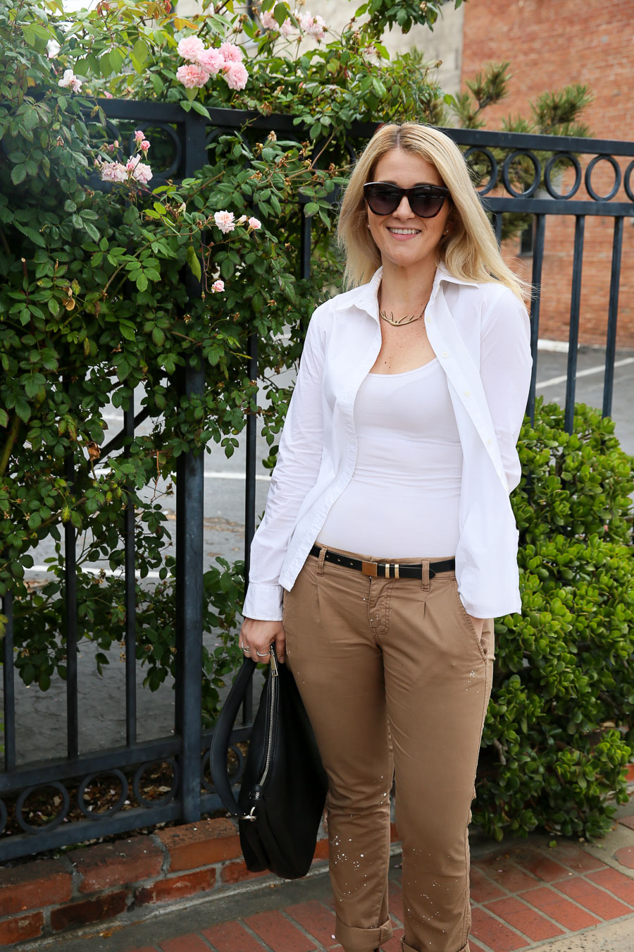Khaki Pants Outfit for Summer Day to Night | Luci's Morsels