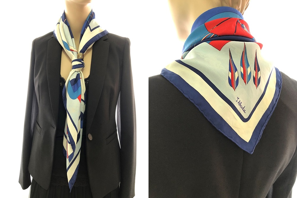 Hermes 90cm Silk Scarf Scout Knot with Ring