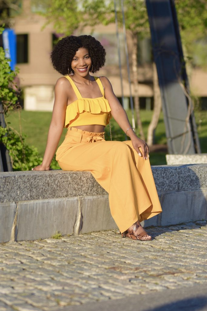 Spring/Summer Style: Yellow Top + SheIn Yellow High Waist Palazzo Pants – The Style Perk