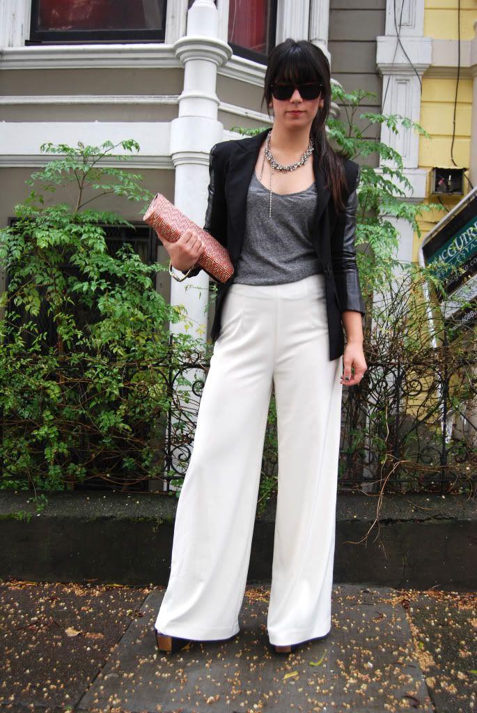 This Time Tomorrow: palazzos ahead! | Black leather blazer, Fashion, Fashion outfits
