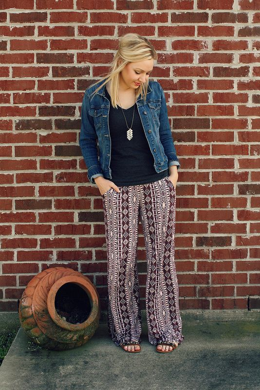 Palazzo pants (Goodwillista) | Pants outfit casual, Summer pants outfits, Palazzo pants outfit