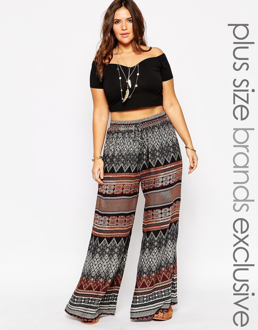 Alice & You Scarf Print Palazzo Pant at asos.com | Plus size fashion, Plus size outfits, Plus size summer outfits