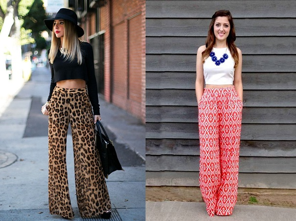 Palazzo With Crop Tops