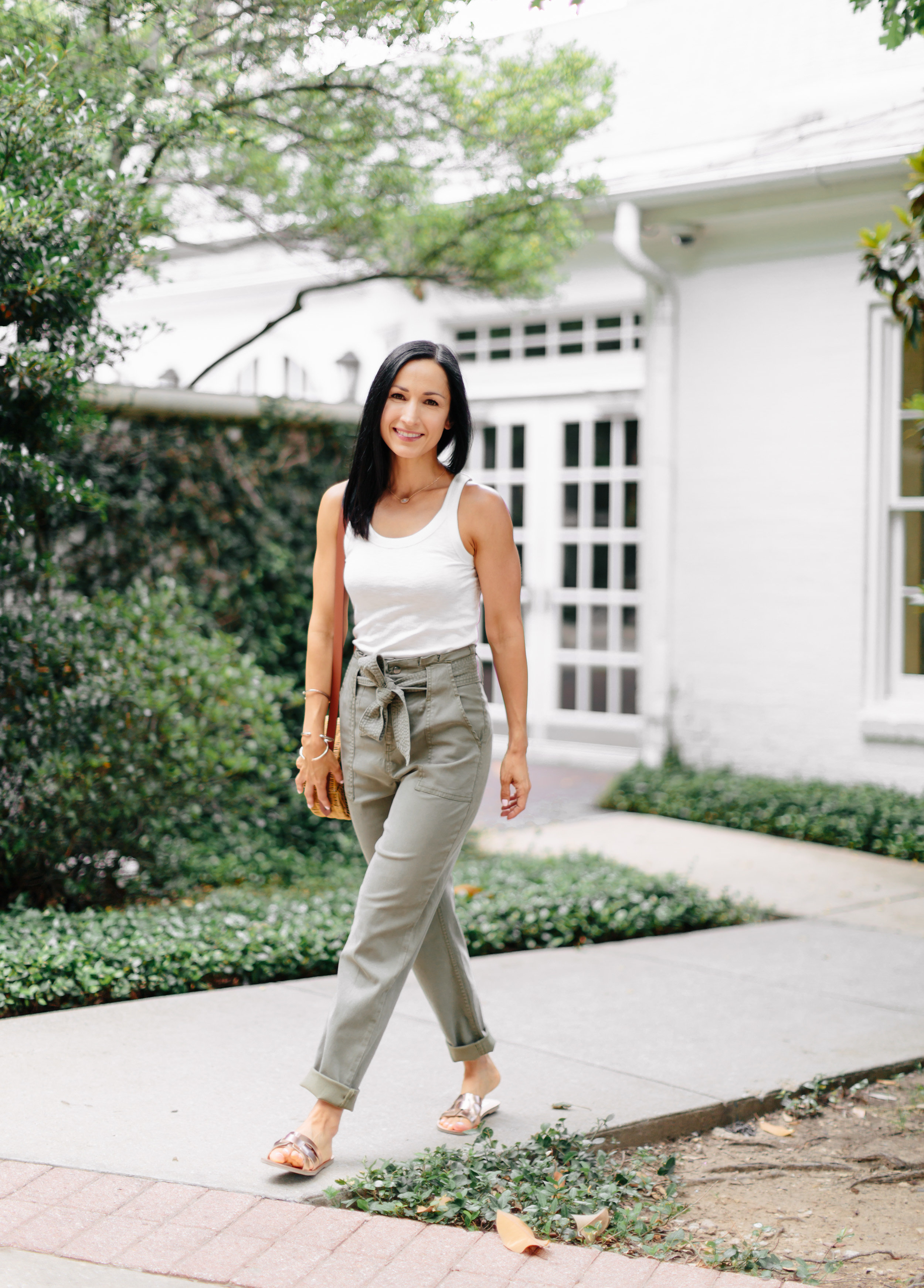 Best Paper Bag Waist Pants! | Loubies and Lulu