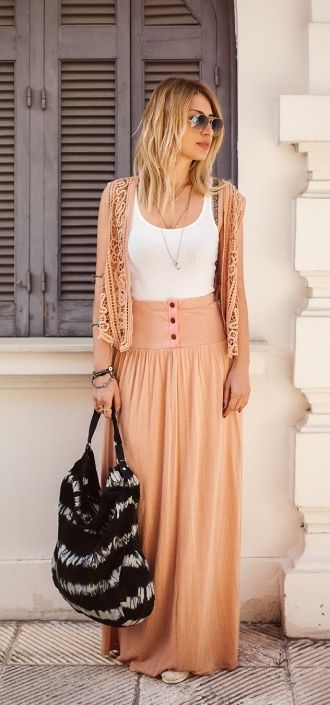 Long Skirts Done Right - Tips and Outfit Ideas - Be Modish | Long skirt  outfits, Long skirt, Skirt outfits