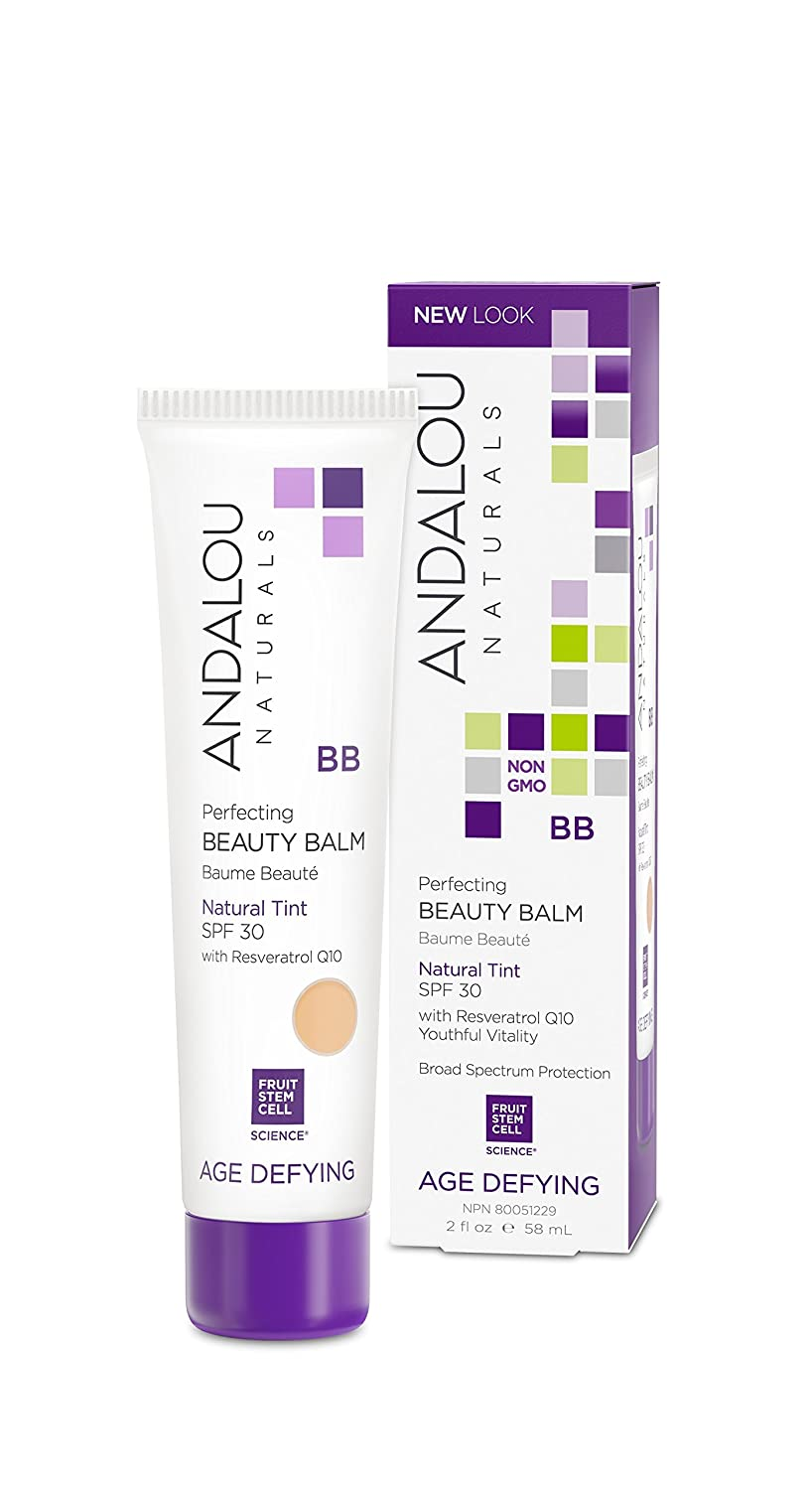 Andalou Naturals Perfecting BB Beauty Balm Tinted Moisturizer with SPF 30 Natural Ounces,