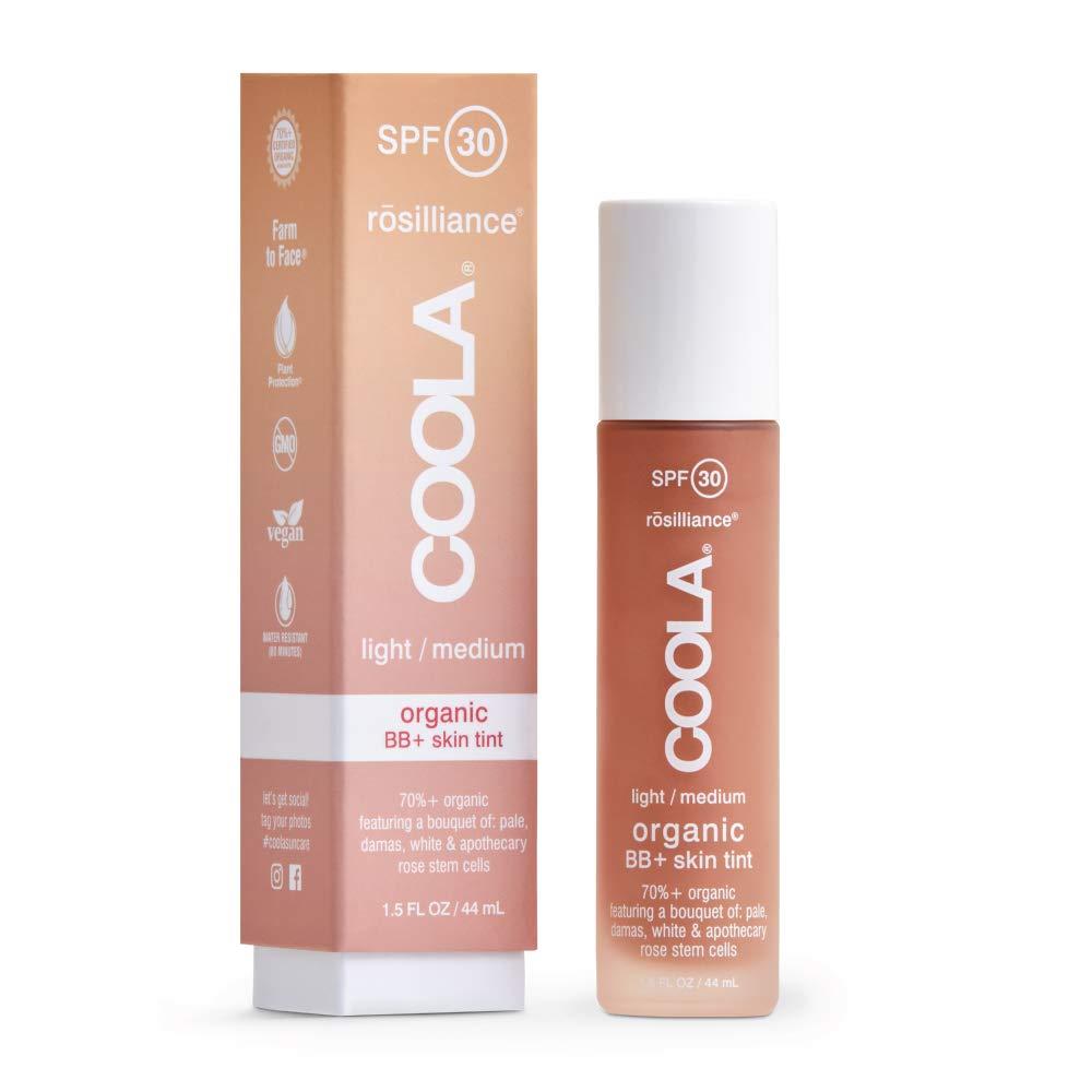 COOLA Organic Rosilliance BB+ Cream, Tinted Moisturizer Sunscreen & Skin Care, Broad Spectrum SPF 30