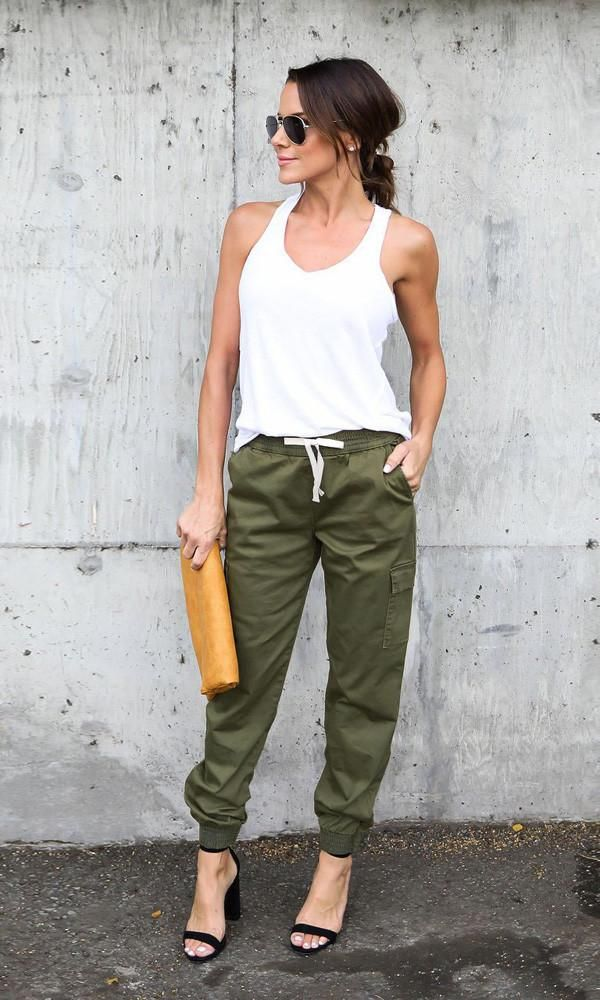 Fitted Women's Cargo Pants. #pants#skirt#bottom#clothingstore#tropicalstyle #ootdtravel #summerdress #trav… | Cargo pants women, Fashion, Jogger pants outfit dressy