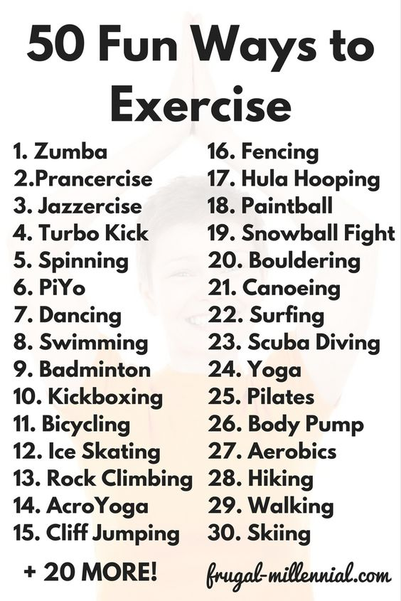 50 Fun Ways to Exercise (For People Who Hate Working Out) via @frugal_jen