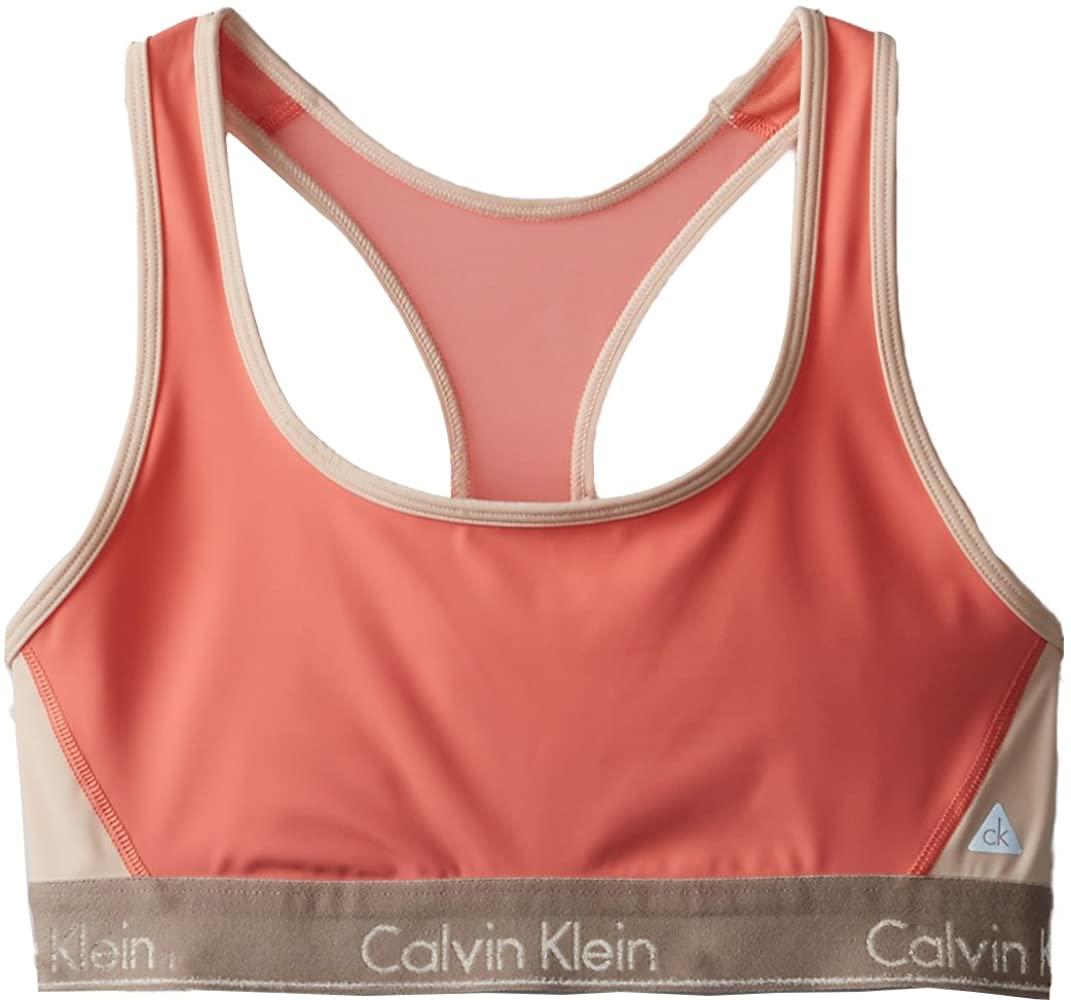 Calvin Klein Women's Flex Motion Medium Impact Racerback Sports Bra
