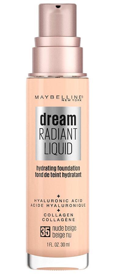 Maybelline Dream Radiant Liquid Medium Coverage Hydrating Makeup, Lightweight Liquid Foundation