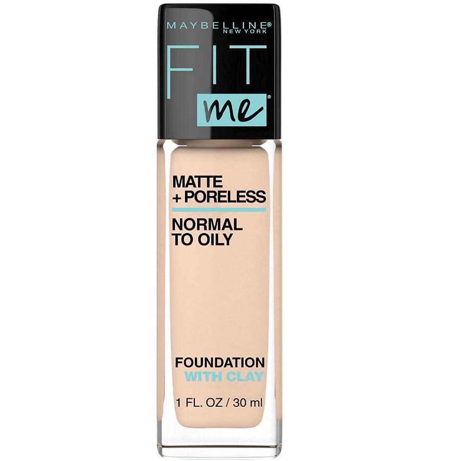 Maybelline Fit Me Matte + Poreless Liquid Foundation Makeup for oil skin