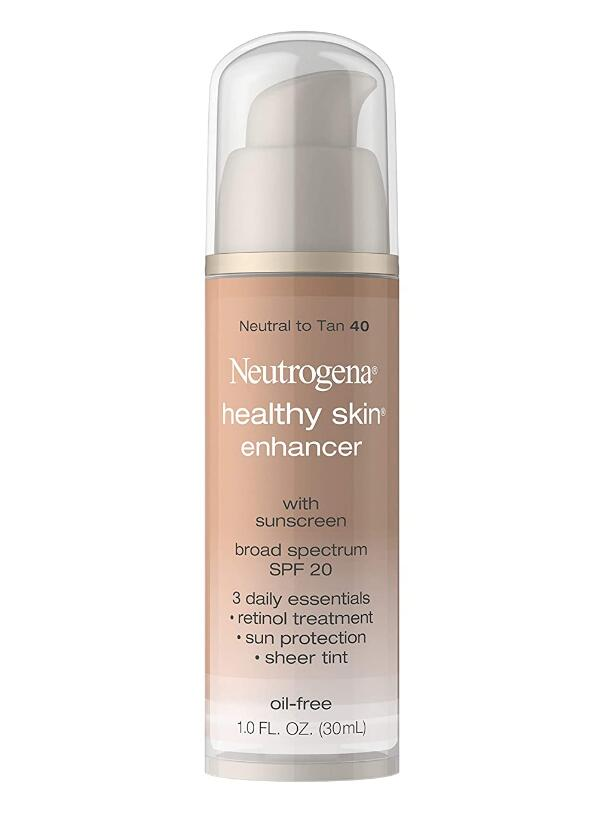 Neutrogena Healthy Skin Enhancer Sheer Face Tint with Retinol & Broad Spectrum SPF 20 Sunscreen for Younger Looking Skin,