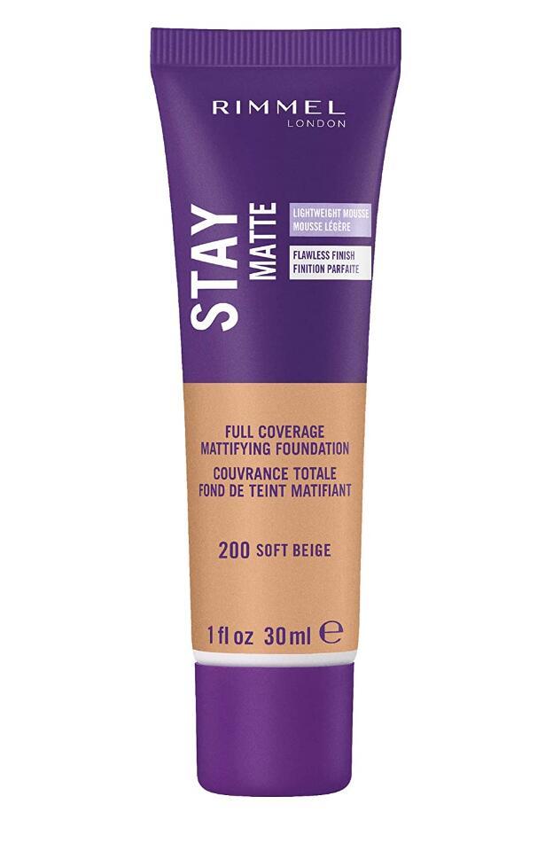 Rimmel Stay Matte Foundation Soft Beige 1 Fluid Ounce Bottle Soft Matte Powder Finish Foundation