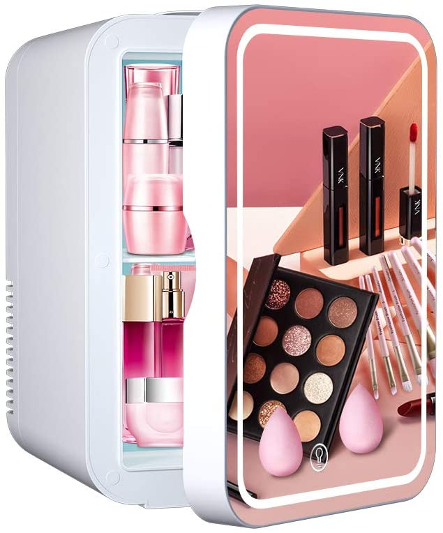 Mini Fridge 6 Liter Portable Beauty Makeup Skincare Fridge Cosmetics Refrigerator