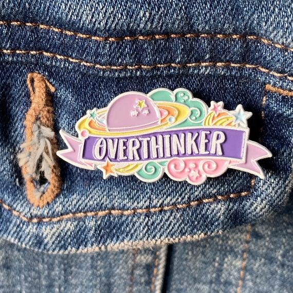 Overthinker Enamel Pin   Etsy