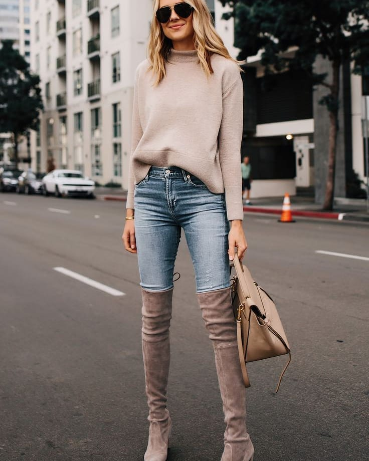 Wear over-the-knee boots