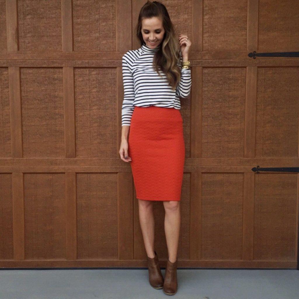 skirt-and-turtleneck