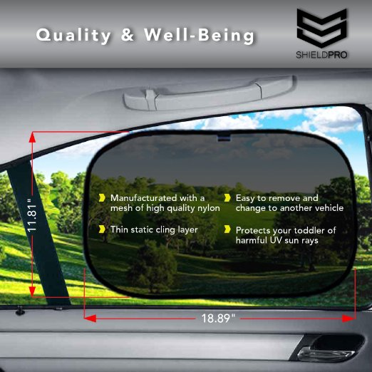 premium quality car sun shade by shieldpro easy stick window sun shade powerful uv rays protector great for babies kids