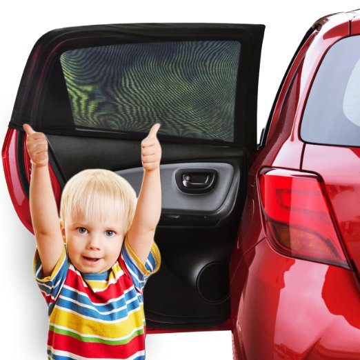 car window shade 2 pack car sun shade baby with uv protection for your kids dog car window sun cover without clings or suction cups