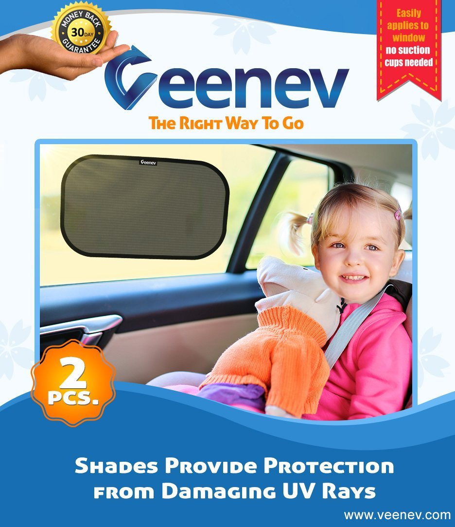 veneev car sun shade for side window car sunshade protector protect your kids and pets in the back seat from sun glare and heat